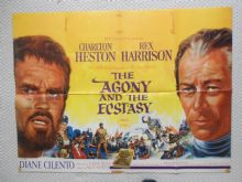 Agony and the Ecstasy (1965) Film Poster - UK Quad